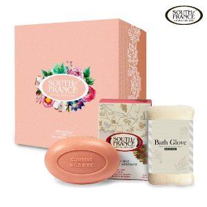 玫瑰皂 + 沐浴手套