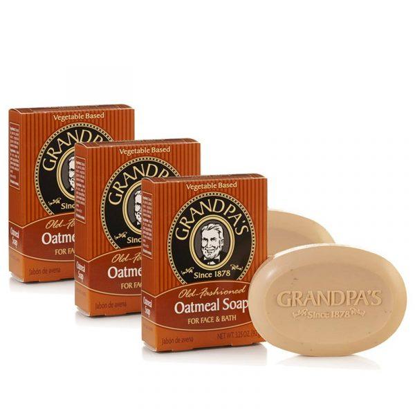 神奇爺爺燕麥專業去角質皂-GPA_Oatmeal3.25oz_5-3入組-800
