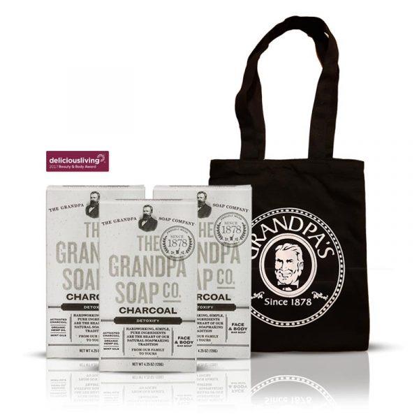 Grandpa 大麻籽薄荷組 + 購物袋 (黑)