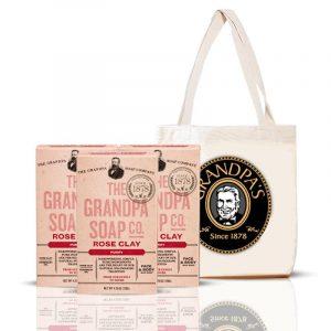 Grandpa 玫瑰組 + 購物袋 (黑)