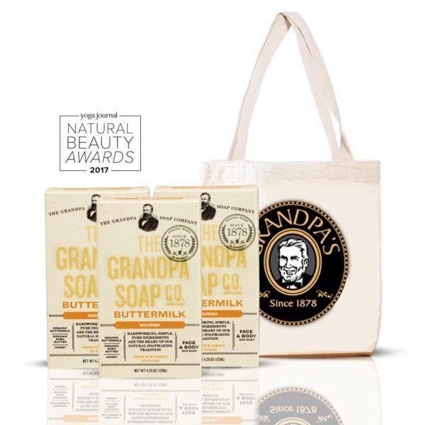 Grandpa 酸奶薄荷組 + 購物袋 (黑)